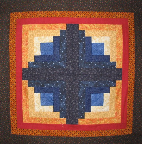 Log Cabin Wallhanging by Sandi Walton at Piecemeal Quilts