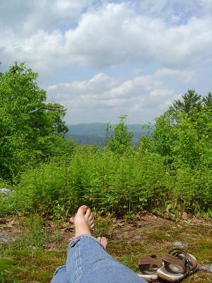 Relaxing atop West Hill