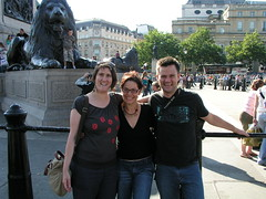 Carmen, Mon and Dave in Trafalger Square