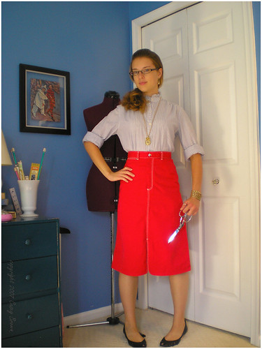 this dressmaker means business!