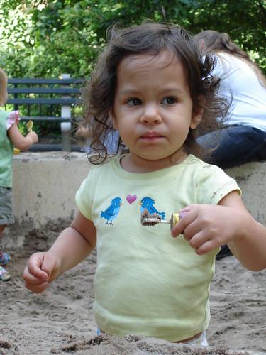 Candy = Yummy. Sand = Not So Yummy.