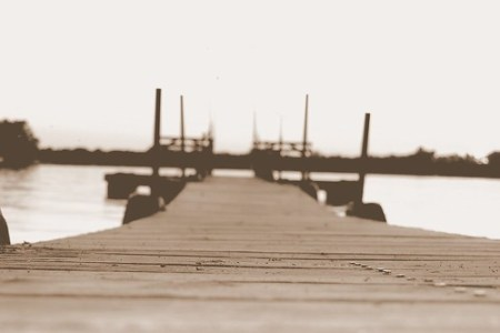 Sitting on the dock of the bay