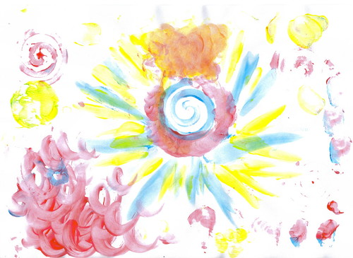 Maia's fingerpainting,