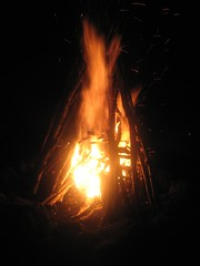 The famous bonfire