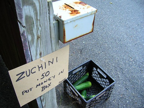 Zucchini on the honor system