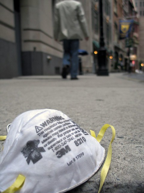 Surgical Mask in the Financial District
