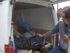 Adrian loads the van