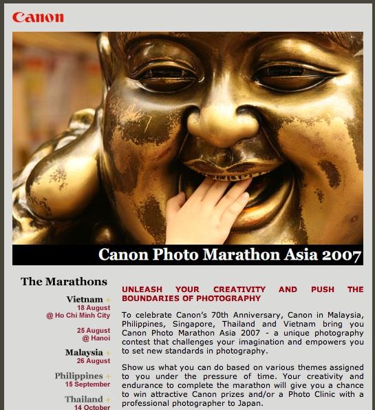 Canon Photo Marathon Asia