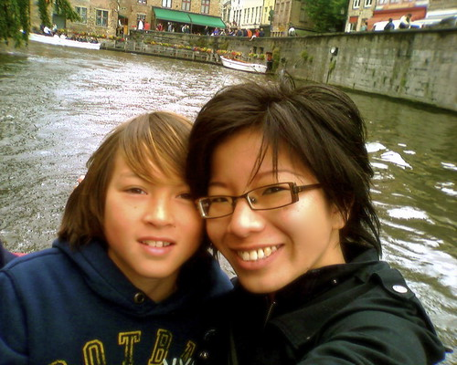 Fergs & I on some river ride in Bruges