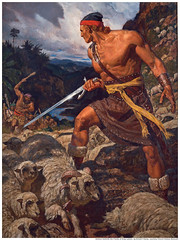 Ammon Defend Sheep Lamoni Mormon