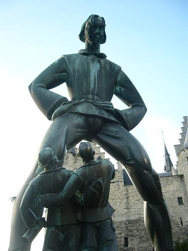 awkward statue