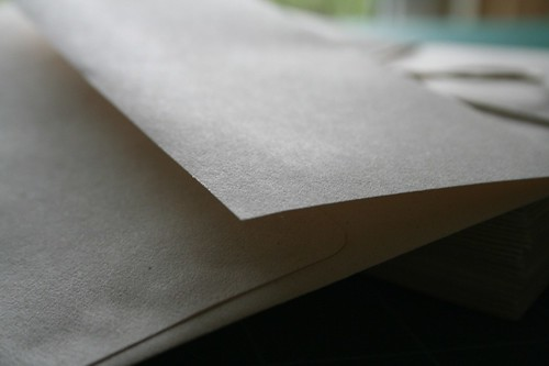 Recycled paper envelopes