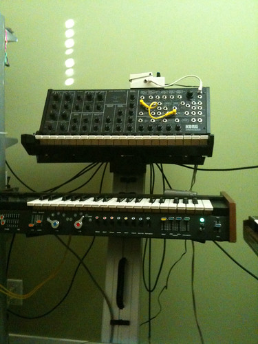 Korg MS-20 & Korg 700s synthesizers
