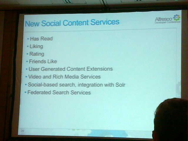 Social content services - coming to Alfresco