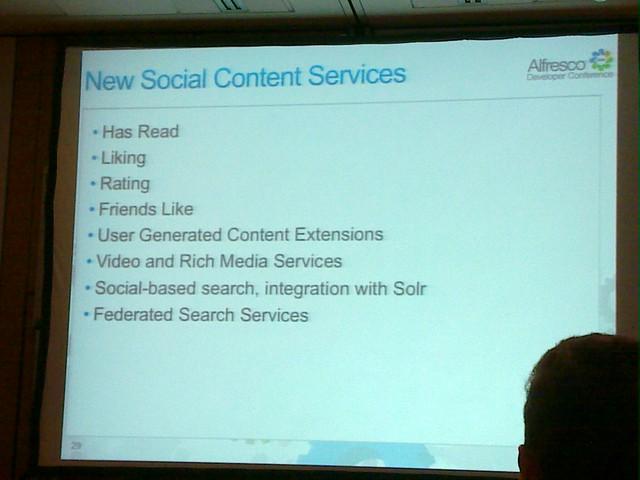 Social content services - coming to Alfresco