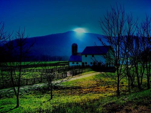 Sunset on a Blue Ridge Farm