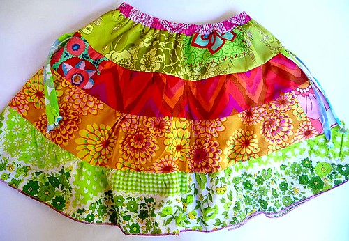 Colourful twirl skirt