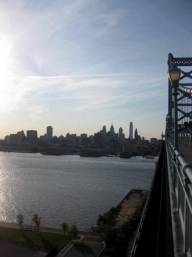 Running the Ben Franklin Bridge