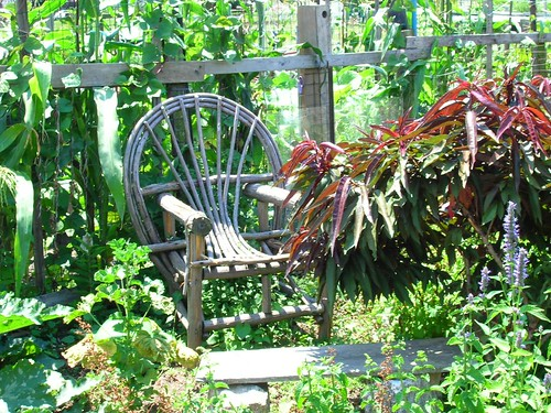 Welcoming Chair in Spring Gardens, Philadelphia - A stop on the Urban Farm Bike Tour