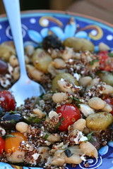 Provencal Quinoa Bowl, all mixed up
