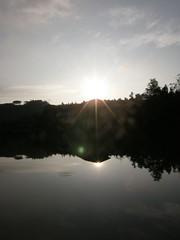81.向天湖、夕陽以及倒影