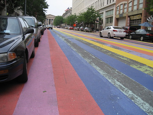 colorized street in DC