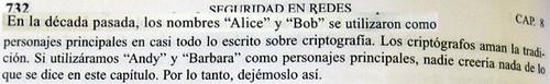 Alice y Bob, famosos criptógrafos