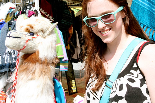 Kat & her Alpaca friend