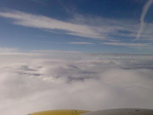 Au dessus des nuages.