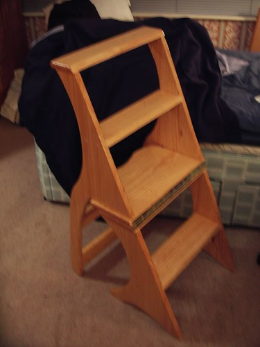 The ladder chair unfolds in to a short ladder!