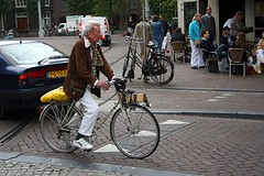 old man on a bike, Amsterdam