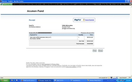 Paypal Receipt For Seth Godin Event