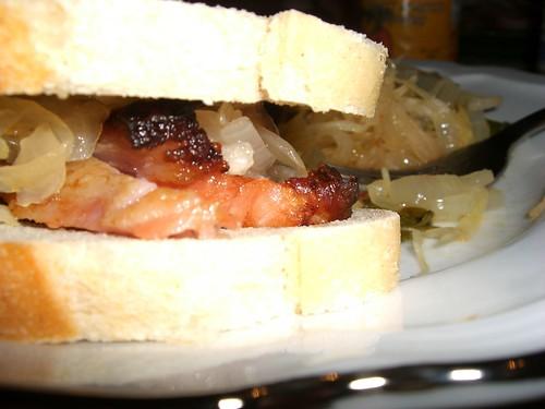 Smoked Pork & Spicy Kraut Sandwiches
