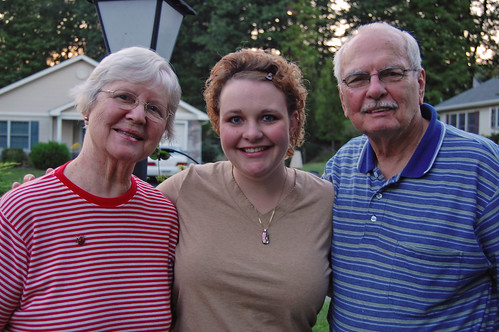 Karyl with her grandparents