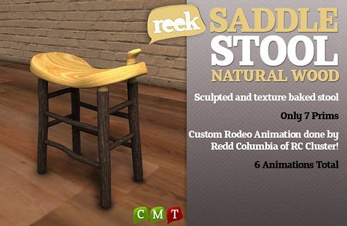Reek - Saddle Stool - Natural Wood Ad
