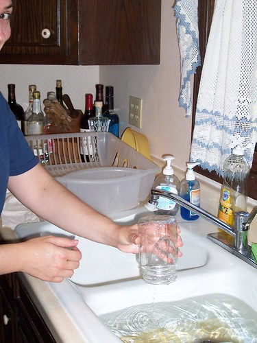 Jar, Sink, Hand