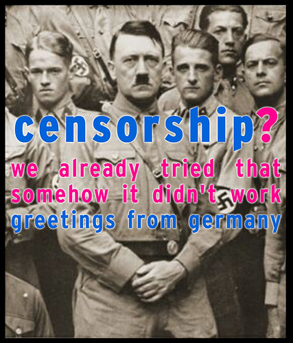 Censorship? We already tried that by Dundrow is glad he didn't pay.