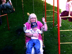 On the swing with Nanny Cuckoo