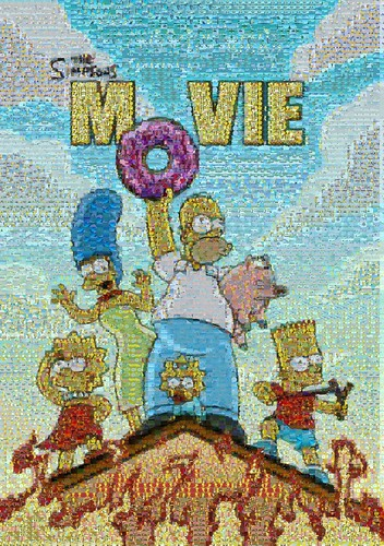 The Simpsons Movie Poster Mosaic by ...lord Alessandro Zarcone.