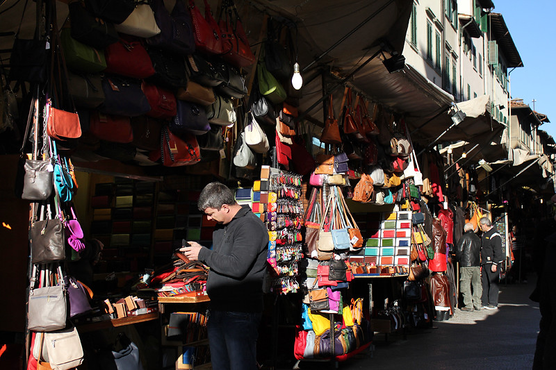 The famous leather market in morning light
