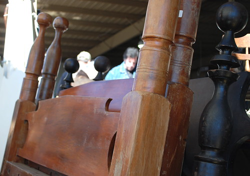 antique wooden beds
