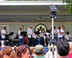 Band onstage at Latin Fest