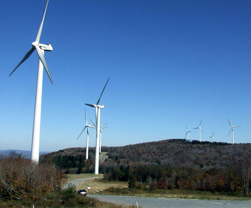 Backbone Mountain wind turbines