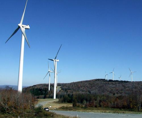 Backbone Mountain wind turbines