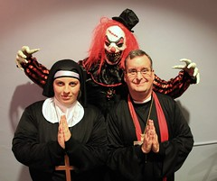 Scary Clown, Nun and Priest