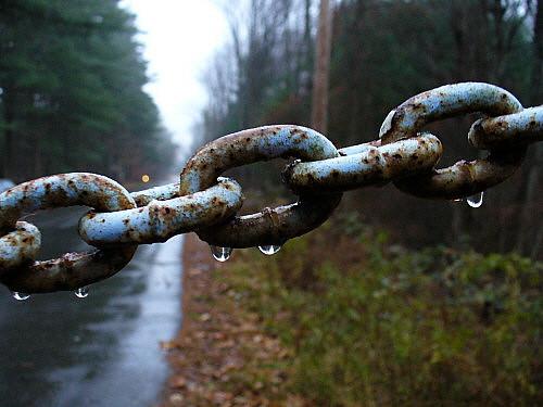Rain on chain