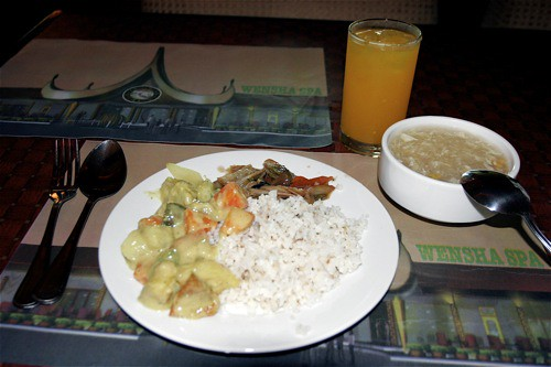 Wensha Spa - 8; /></a> <br />The buffet meal that comes free with the massage services includes two dishes, rice, and unlimited soup and drinks. Not bad?. After running for 10k, I can eat anything but of course, I still need to watch what I eat. </p><p> <a href=