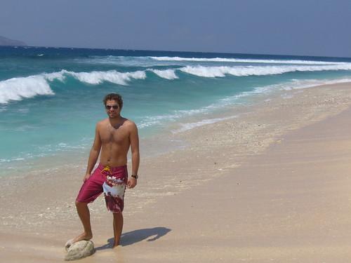 Randall on beach