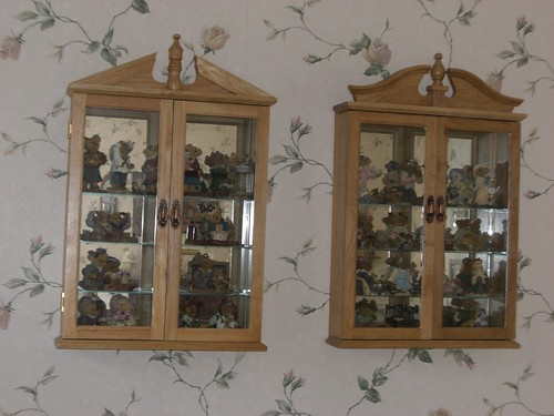 My curio cabinets