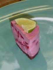 raw strawb lime slice